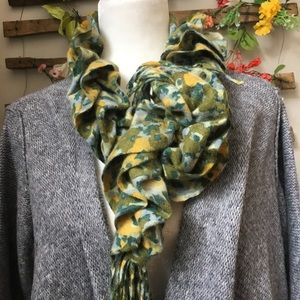 Anthropologie Cashmere Ruched Scarf